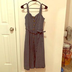 Denim Colored Button Dress